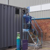 OPS' new 300kva UPS being built